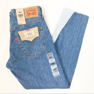 NWT Levis 501 Taper Cropped Non Stretch Jeans
